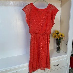 Coral Cocktail Dress by Vince Camuto sz 2